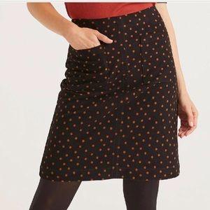 BODEN A-Line Black Polka Dot Skirt